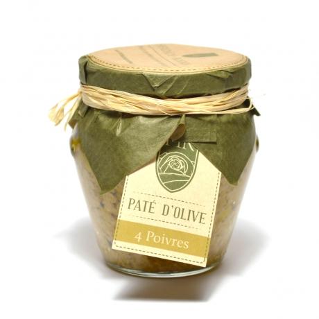 Pâte d'Olive Verte aux 4 Poivres